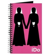 """I Do"" Brides Pink Journal"