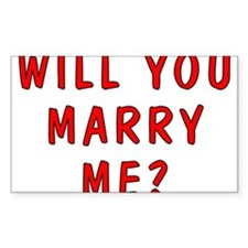 Will You Marry Me Rectangle Decal