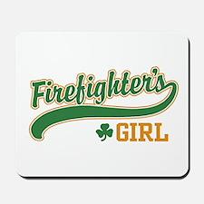 Irish Firefighter's Girl Mousepad