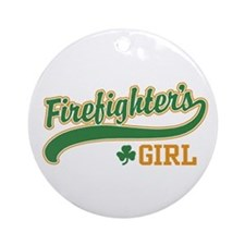 Irish Firefighter's Girl Ornament (Round)