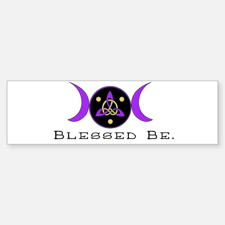 Purple Goddess Symbol Bumper Bumper Bumper Sticker