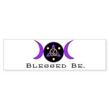 Purple Goddess Symbol Bumper Bumper Sticker
