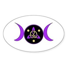Purple Goddess Symbol Oval Decal