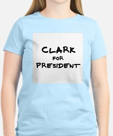 Clark for President Women's Pink T-Shirt