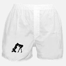 Lesbian Domme and Sub (black) Boxer Shorts