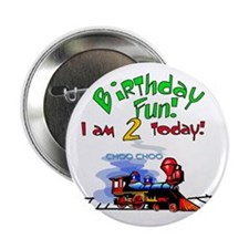 Train 2nd Birthday Button