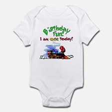 Train 1st Birthday Infant Creeper