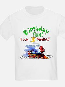 Train 3rd Birthday Kids T-Shirt