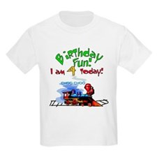 Train 4th Birthday Kids T-Shirt