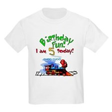 Train 5th Birthday Kids T-Shirt