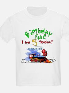 Train 5th Birthday Kids T-Shirt