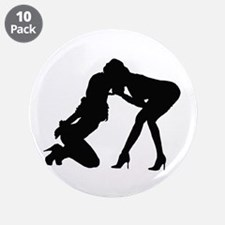 """Domme and Sub Lesbians 3.5"""" Button (10 pack)"""