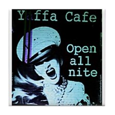 Yaffa Cafe original artwork tile coaster