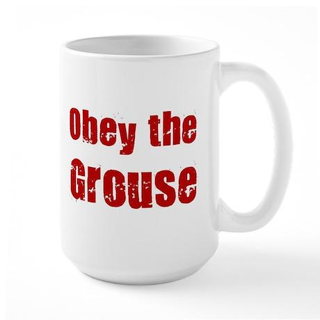 Obey the Grouse Large Mug