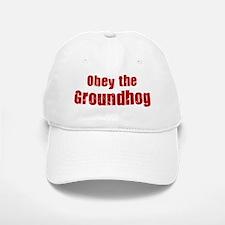 Obey the Groundhog Baseball Baseball Cap