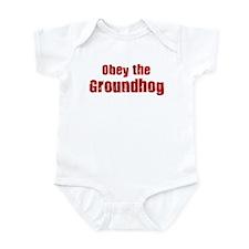 Obey the Groundhog Infant Bodysuit
