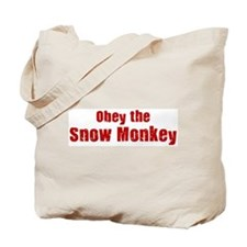 Obey the Snow Monkey Tote Bag