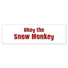 Obey the Snow Monkey Bumper Bumper Sticker