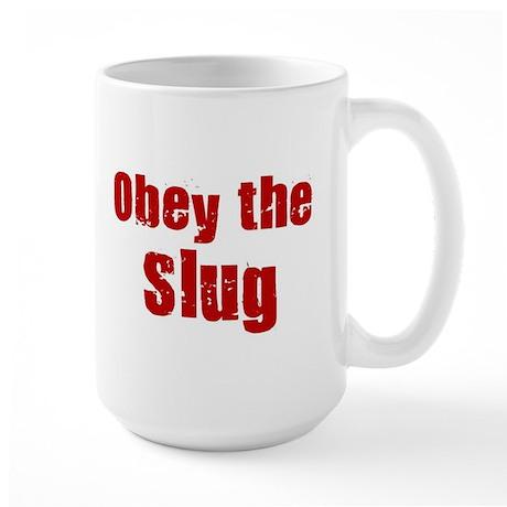 Obey the Slug Large Mug