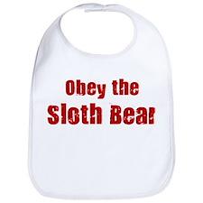 Obey the Sloth Bear Bib