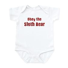 Obey the Sloth Bear Infant Bodysuit