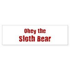 Obey the Sloth Bear Bumper Bumper Sticker