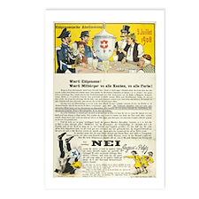 Swiss 1908 Pro-Absinthe Propaganda Postcards (Pack