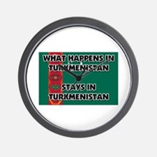What Happens In TURKMENISTAN Stays There Wall Cloc