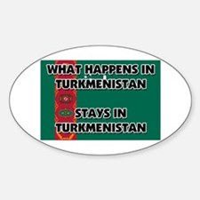 What Happens In TURKMENISTAN Stays There Decal