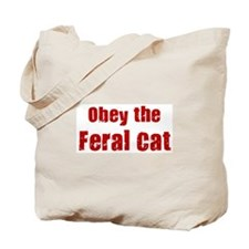 Obey the Feral Cat Tote Bag
