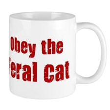 Obey the Feral Cat Mug