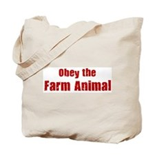 Obey the Farm Animal Tote Bag