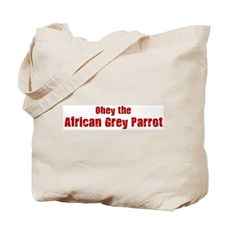 Obey the African Grey Parrot Tote Bag