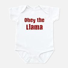 Obey the Llama Infant Bodysuit