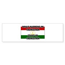 What Happens In TAJIKISTAN Stays There Bumper Sticker