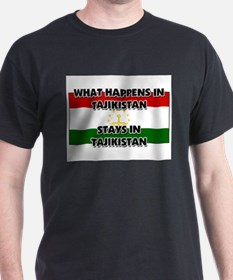 What Happens In TAJIKISTAN Stays There T-Shirt