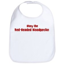 Obey the Red-Headed Woodpecke Bib