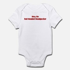 Obey the Red-Headed Woodpecke Infant Bodysuit