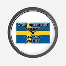 What Happens In SWEDEN Stays There Wall Clock