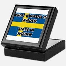 What Happens In SWEDEN Stays There Keepsake Box