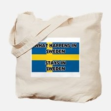 What Happens In SWEDEN Stays There Tote Bag