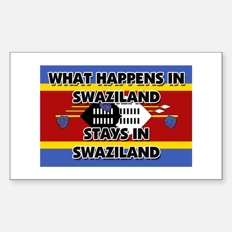 What Happens In SWAZILAND Stays There Decal