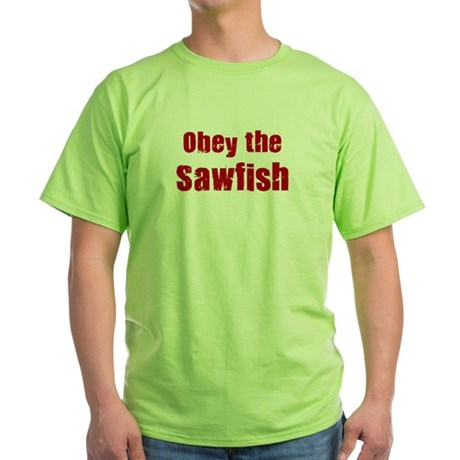 Obey the Sawfish Green T-Shirt