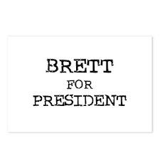 Brett for President Postcards (Package of 8)
