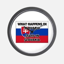 What Happens In SLOVAKIA Stays There Wall Clock