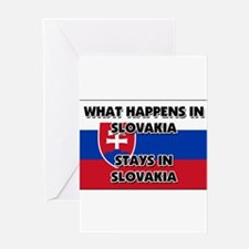 What Happens In SLOVAKIA Stays There Greeting Card