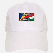 What Happens In SEYCHELLES Stays There Baseball Baseball Cap