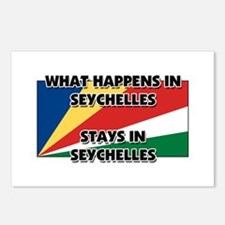 What Happens In SEYCHELLES Stays There Postcards (