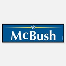 McBush Anti McCain Bumper Bumper Bumper Sticker