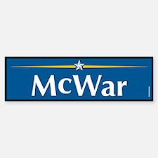 McWar Anti McCain Bumper Bumper Bumper Sticker